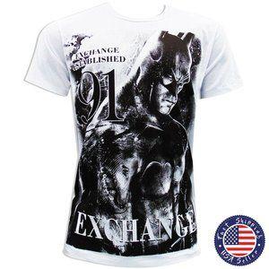 EXCHANGE BATMAN MEN WHITE O-NECK T-SHIRT SIZE XL